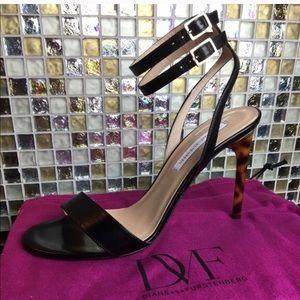 DVF black heels- brand new!
